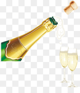Champagne, New Year, Glass, Liqueur PNG image with transparent background