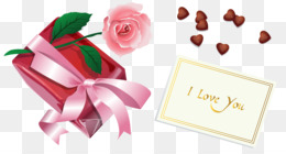 Heart, Valentine S Day, Garden Roses, Pink, Flower PNG image with transparent background