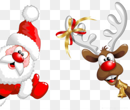 Santa Claus, Reindeer, Christmas, Christmas Ornament, Deer PNG image with transparent background