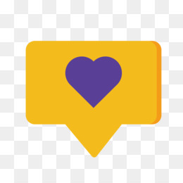 Dialog Box, Yellow, Dialogue, Heart, Square PNG image with transparent background
