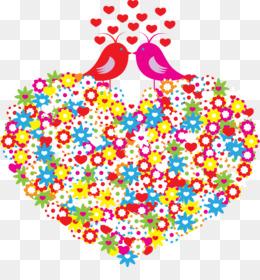 Bird, Fischer S Lovebird, Valentine S Day, Heart, Art PNG image with transparent background