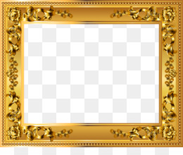 Borders And Frames, Picture Frames, Gold, Picture Frame, Tabletop Game PNG image with transparent background