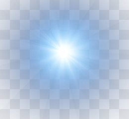 Light, Light Beam, Glare, Blue, Square PNG image with transparent background