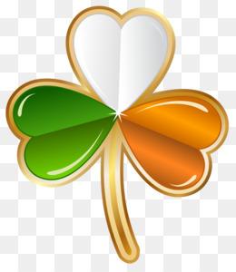 Ireland, Irish Cuisine, Shamrock, Heart, Petal PNG image with transparent background