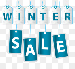 Sales, Sticker, Winter, Blue, Product PNG image with transparent background