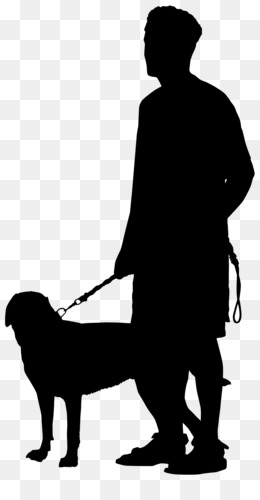 Dog, Pet Sitting, Silhouette, Standing, Human Behavior PNG image with transparent background