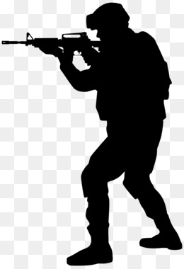 Silhouette, Soldier, Military, Standing, Angle PNG image with transparent background