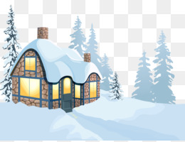 Snow, House, Winter, Font, Elevation PNG image with transparent background