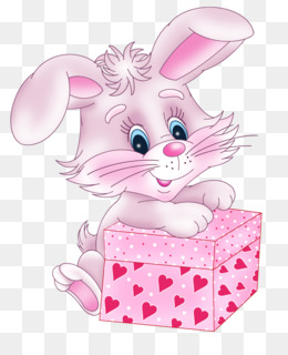 Rabbit, Valentine S Day, Heart, Pink, Art PNG image with transparent background