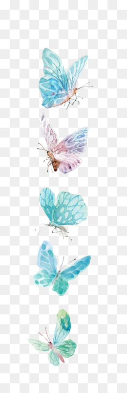 Paper, Watercolor Painting, Drawing, Butterfly, Product PNG image with transparent background