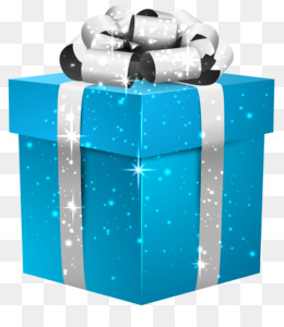 Gift, Teal, Box, Blue, Product PNG image with transparent background