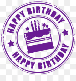 Birthday Cake, Birthday, Rubber Stamp, Area, Purple PNG image with transparent background