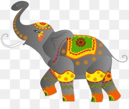 India, Indian Elephant, Elephant, Pattern PNG image with transparent background