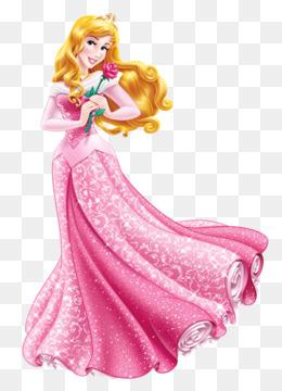 Princess Aurora, Ariel, Rapunzel, Pink, Gown PNG image with transparent background