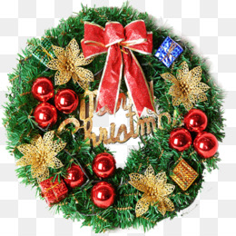 Christmas, Wreath, Santa Claus, Evergreen, Christmas Decoration PNG image with transparent background