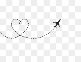 Airplane, Flight, Heart, Square, Angle PNG image with transparent background