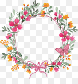 Wreath, Flower, Garland, Decor, Flora PNG image with transparent background
