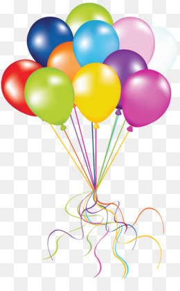 Birthday Balloons Background With Cake