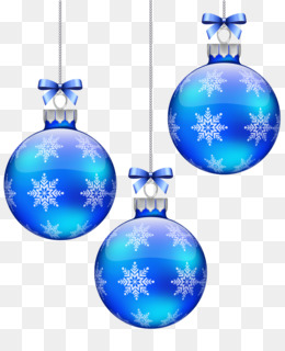 png - Blue Christmas Ornaments