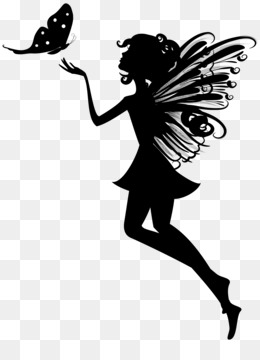 Fairy, Silhouette, Art, Butterfly, Visual Arts PNG image with transparent background