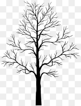 Tree, Silhouette, Drawing, Line Art, Plant PNG image with transparent background