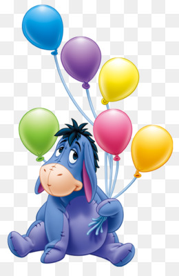 Eeyore, Winnie The Pooh, Piglet, Toy, Balloon PNG image with transparent background