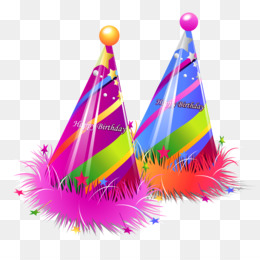 Birthday Cake, Party Hat, Birthday, Magenta PNG image with transparent background