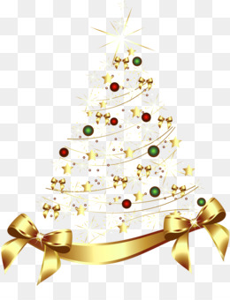 Christmas Tree, Christmas, Gold, Fir, Pine Family PNG image with transparent background