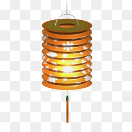 Mid Autumn Festival, Lantern, Paper Lantern, Orange, Product Design PNG image with transparent background