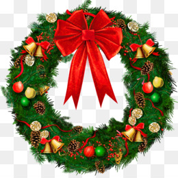 Wreath, Christmas, Garland, Fir, Evergreen PNG image with transparent background