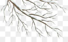 Branch, Winter, Encapsulated Postscript, Line Art, Flower PNG image with transparent background