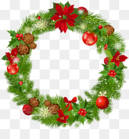 Christmas, Wreath, Garland, Evergreen, Pine Family PNG image with transparent background