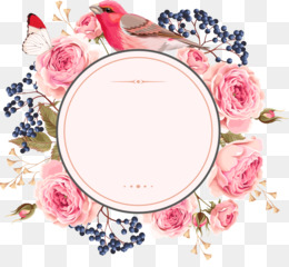 Flower, Wreath, Floral Design, Pink, Picture Frame PNG image with transparent background