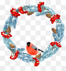 Wreath, Winter, Christmas Decoration PNG image with transparent background