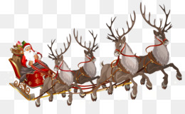 Santa Claus, Reindeer, Santa Claus Parade, Christmas Decoration PNG image with transparent background