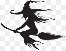 Witchcraft, Halloween, Silhouette, Black And White PNG image with transparent background