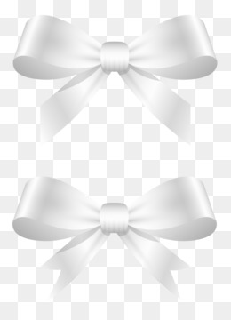 Bow Tie White Neck Pattern White Ribbon Bow Png Download