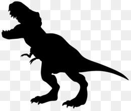 Tyrannosaurus, Apatosaurus, Brontosaurus, Silhouette PNG image with transparent background