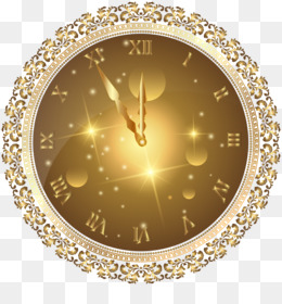New Year, Clock, New Year S Eve, Circle PNG image with transparent background