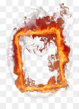 Fire, Flame, Picture Frames, Text, Illustration PNG image with transparent background