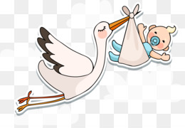 White stork Infant Baby shower - Vector baby is coming @kisspng