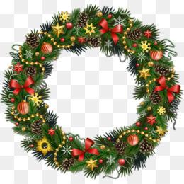 Free Download Rudolph Christmas Wreath Clip Art Transparent