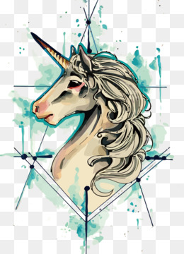 Tattoo, Unicorn, Old School Tattoo, Head, Art PNG image with transparent background