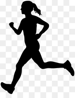 Running, Silhouette, Woman, Standing, Human Behavior PNG image with transparent background