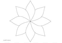 Crochet flower diagram petal pattern eight petal flower template png ccuart Image collections