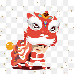 Chinese New Year, Lion Dance, Lantern Festival, Art, Pattern PNG image with transparent background