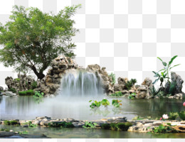 Waterfall, Landscape Architecture, Fundal, Plant, Flora PNG image with transparent background