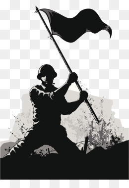 Soldier, Army, Royaltyfree, Black And White, Silhouette PNG image with transparent background