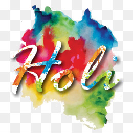 Holi, Festival, Watercolor Painting, Watercolor Paint, Art PNG image with transparent background