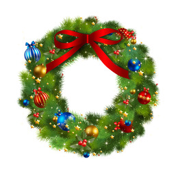 Free Download Christmas Wreath Garland Clip Art Christmas Wreath Png